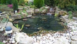 A Heron Guard Fitted To A Pond With A Soft Surround